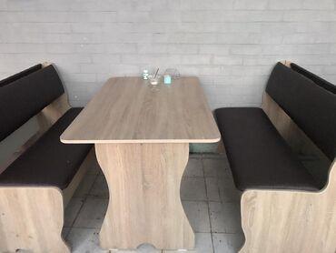 Комплект стол и стулья | Для кафе, ресторанов | на 4-6 персон