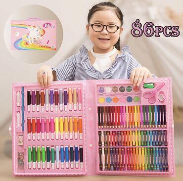 Набор юного художника для рисования 110 предметов . Набор для