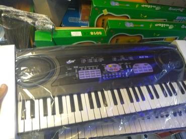Sintizator 4 oktava yarım mikrafonlu kiçik ölçülü RK musiqi alətləri
