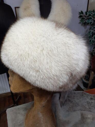 Šubara od polarne lisice Prirodno krzno