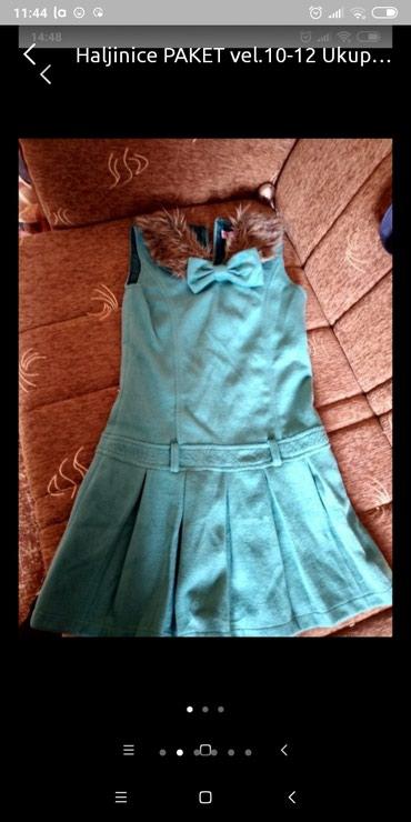 Haljinica stofana za devojcicu vel.12 bez rukava nosi se na bodi - Pancevo