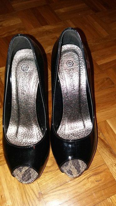 Cesare paciotti - Srbija: Lakovane cipele sa otvorenim prstima roselight kao nove,br