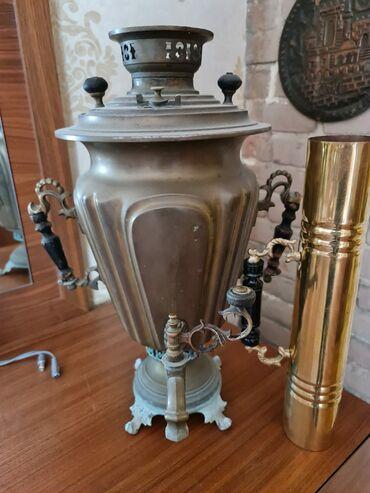 865 elan | SAMOVARLAR: Qədimi latun samovar, 5 litrlik