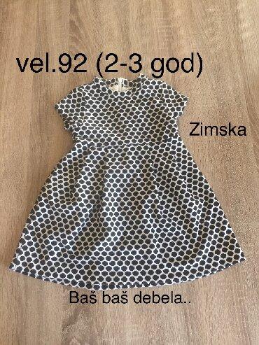 Kratkih rukava - Srbija: Zimska haljina -kratki rukav 92 (3god)za devojcice