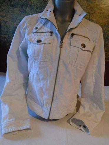 Bela, teksas jaknica sa ruskom kragnom. Klasičan model od 100% - Belgrade