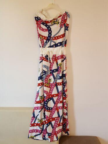 Ženska odeća | Gornji Milanovac: Duga haljina sarena, divan materijal
