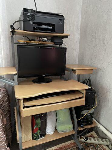 пк бишкек in Кыргызстан | НАСТОЛЬНЫЕ ПК И РАБОЧИЕ СТАНЦИИ: Компьютер в рабочем состоянии вместе с рабочим столом