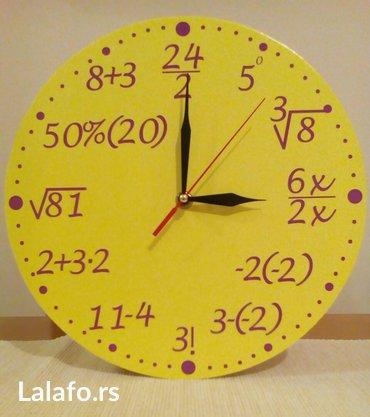 Ostalo | Smederevska Palanka: Dekupaz radionica b&i. Matematicki zidni unikatni sat radjen