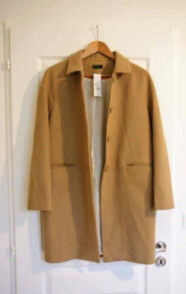 Легкое пальто, свободное. Модель business glam1. Состав: шерсть 65%