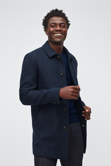 Шерстяное пальто для автолюбителя.Современное обновление тонкой ткани