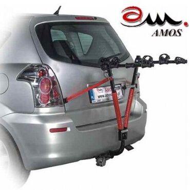 Автомобильный багажник Amos на фаркоп для перевозки 3-х велосипедов