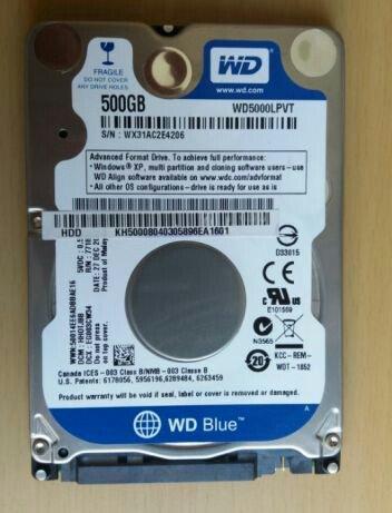 """Bakı şəhərində WD 500 GB HDD 2.5""""Noutnuk üçün.Testlәrdәn keçib.3 gün"""