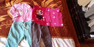 Majice(dugih rukava), dukserica i helanke za devojcice, velicina 80-86