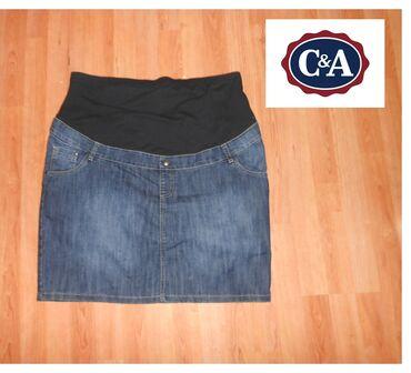 Suknja duzina - Srbija: Suknja trudnicka C&A teksas Suknja trudnicka C&A teksas vel