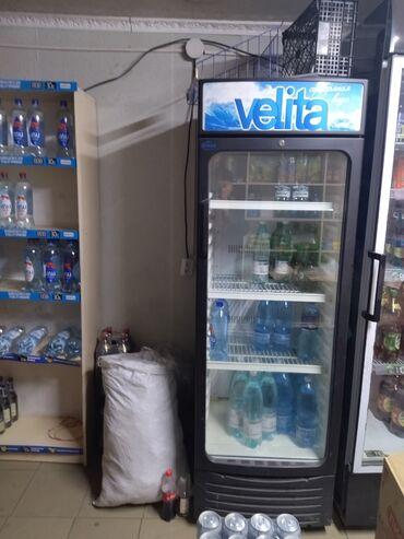 Б/у Холодильник-витрина | Синий холодильник