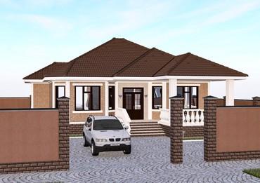 Проект красивого 1-этажного дома. в Бишкек