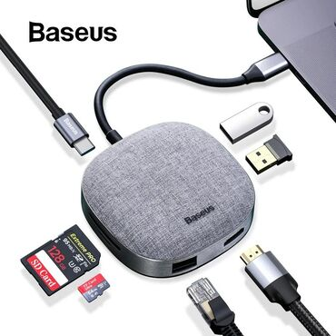Dok-stansiya Azərbaycanda: Original Baseus firmasitype-c hdmi universal adapter girisleriusb