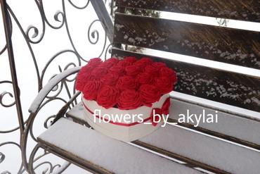 Букет роз букеты в коробках  искусственные цветы  вечные цветы