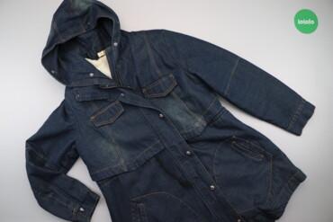 Жіноча джинсова зимова куртка з капюшоном Nendu    Довжина: 95 см Шири