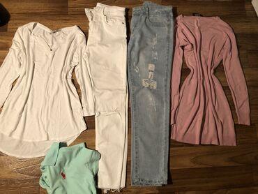Разгружаю гардероб !!!! 2 джинсы 2 кофточки 1 футболка. Все в отличном