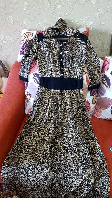 Удобное платье турция 44-48р б. у в отличном состоянии в Бишкек