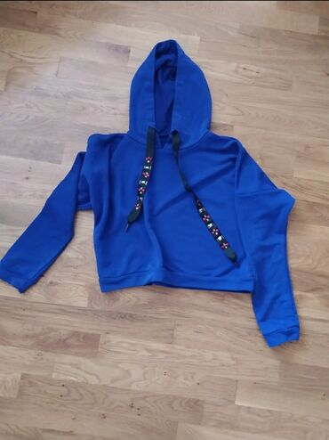 Svitşotlar - Bakı: Новый,Укороченный свитшот, цвет синий электрик, длина 47см, размер м
