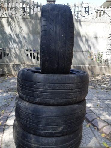 Продаю комплект резины 215/55R17 до конца в Бишкек