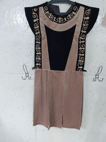 Платье, дизайнерская одежда с головным убором, велюр, для девочек