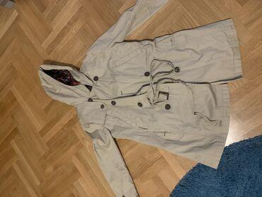 Mantil braon - Srbija: Pull&bear ženski jeseni mantil sa postavom