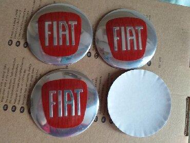 Tuning i styling oprema - Srbija: FIAT znak, aluminijumski čepovi nalepnice za felne 56 mmFIAT znak