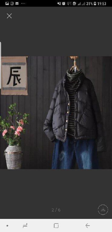 стильные пуховики в Кыргызстан: Продаю женскую куртку. Стильная. Легкая. Теплая. Пуховик.Цвета:черный