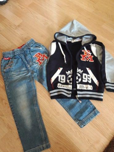 Набор: джинсы+кофта, на 5-6 лет. в Токмак