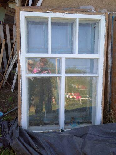 Ремонт и строительство - Беловодское: Продаю окна деревянные б/у отличном состоянии двайной комплект 8 штук