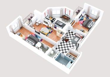 Выполняю 3D планировку квартир любой в Бишкек