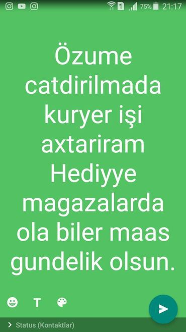kuryer teleb olunur 2018 - Azərbaycan: Kuryer