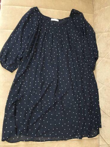 Корейское платье oversize. Подойдет беременным. Размер скорее L чуть