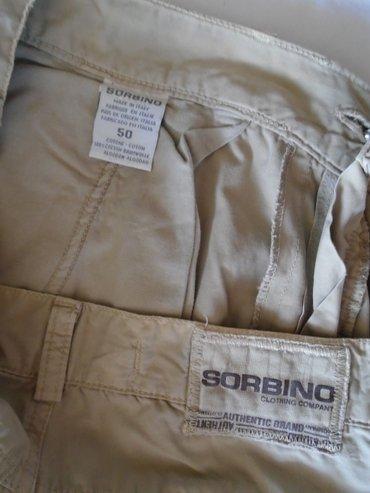 Bež muške, kargo pantalone italijanskog brenda Sorbino, proizvedene - Beograd