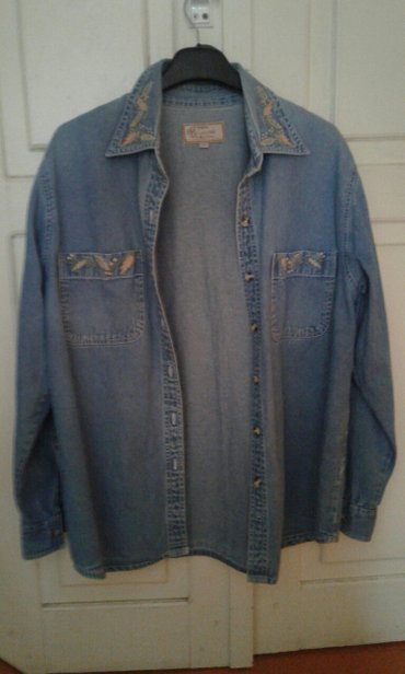 Женская Джинсовая рубашка. размер 46 в Кок-Ой