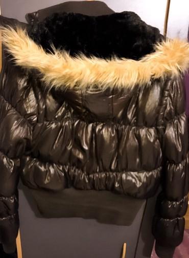 Blue Lover bakarna zimska jakna, krzno unutra je nenormalno mekano i - Bor