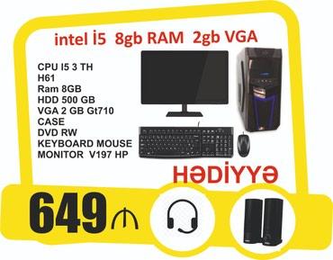 Bakı şəhərində Stolüstü kompyuter Core i5 8gb ram