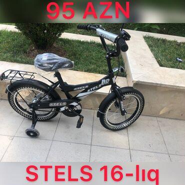 velosiped stels - Azərbaycan: Velosiped STELS 16-lıq. Arxa əyləc ayaqda qabaq əyləc əldədir