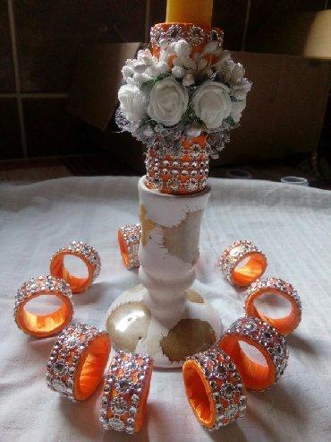 Gospodar prstenova - Srbija: Komplet,12 prstenova za salvete i ukras za svecu