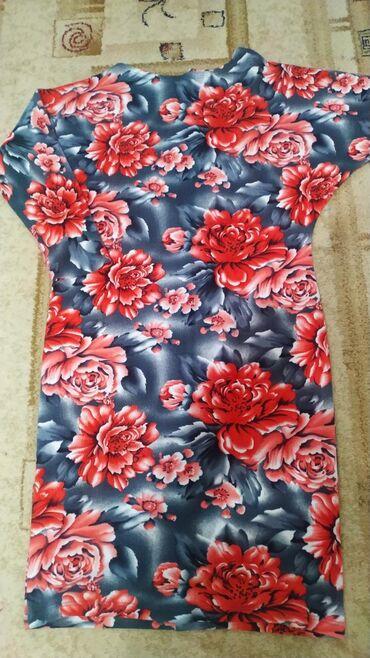 размер-м-s в Кыргызстан: Шикарное платье на осень, теплый мягкий трикотаж. Новое, размер 46-48