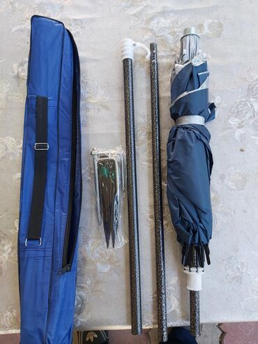 Складной пляжный зонт, диаметр1,6м. Ткань двойная- отражающая. Спицы