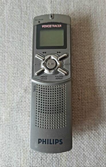 Mobilni telefoni - Crvenka: Digitalni diktafon Philips - Digitalni diktafon/snimač zvuka firme