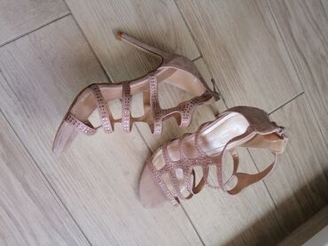 Sandale prelepe bebi roze sa cirkonima
