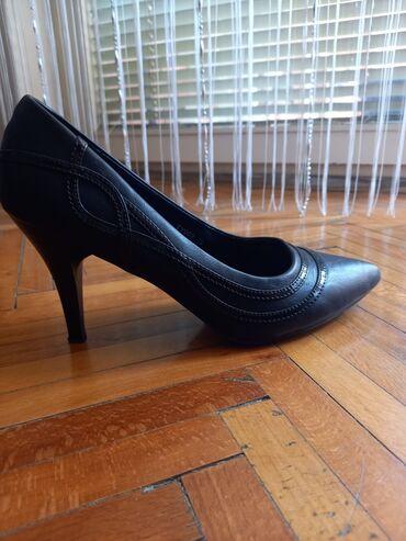 Cipele, crne, br.40, jednom nosene, 1000 din