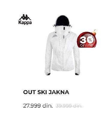 Velic-da - Srbija: KAPPA ski jakna velicina L. Nosena jednu sezonu. Veoma kvalitetna
