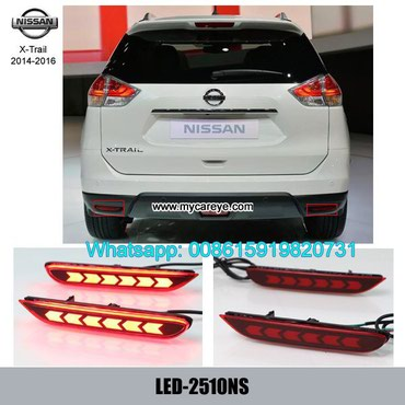 Nissan X-Trail 2014-2016 LED running Bumper Turn Signal Brake Lights in Tīkapur