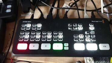 blackmagic production camera 4k в Кыргызстан: Продаю ATEM MINI новый, пульт для стримов прямых трансляций в
